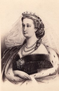 Eugenie Montijo French Empress old CDV Photo 1860