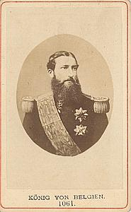 Belgium Royalty King Leopold II old CDV Photo 1865'
