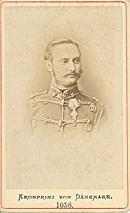 Denmark Royalty Frederik VIII old CDV Photo 1865