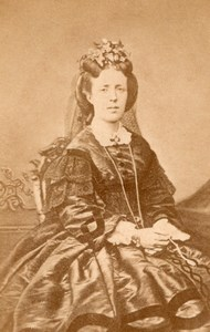 Sweden Royalty Queen Sofia of Nassau old CDV Photo 1865