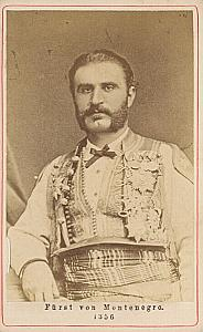 Prince of Montenegro Nicolas I Royalty CDV Photo 1865'