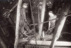 Coal Mine Worker Mining Lens France old Photo 1920