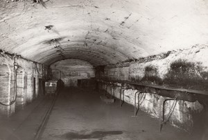 Coal Mining Wagon Tunnel Lens France old Photo 1920