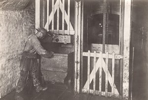 Coal Mine Worker Eletricity Lens France old Photo 1920