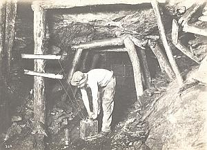 Coal Mine Worker Dynamite Lens France old Photo 1920