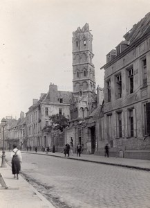 France Arras Ursulines Destruction WWI old Photo 1918'