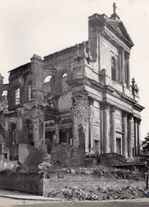France Arras Cathedral Destruction WWI old Photo 1918'