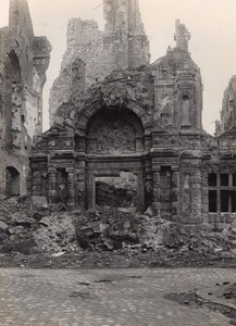 France Arras City Hall Destruction WWI old Photo 1918'