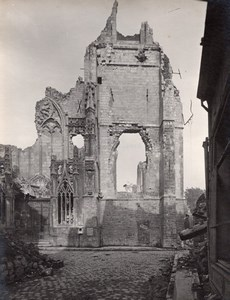 Arras Church St Jean Destruction WWI old Photo 1918'