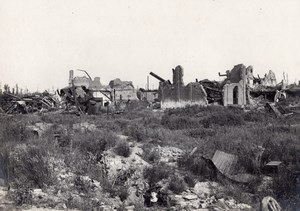 France Blangy les Arras Destruction WWI old Photo 1918'