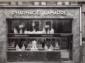 Pharmacy Shop Photographer Reflection France Photo 1930
