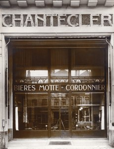 Chantecler Beer Coffee Bar Photographer Ghost Amiens France Photo 1930