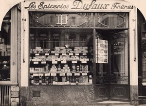 Grocery Shop Lille France Art Deco Jacquart Photo 1930