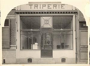 Tripe Shop Food Lille France old Jacquart Photo 1930