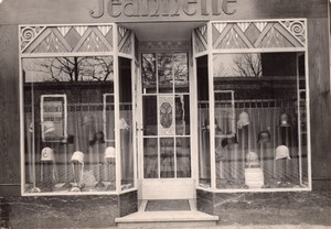 Hat Shop Photographer Reflection France Photo 1930