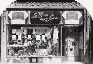 Sport Shop Lille France Art Deco Jacquart Photo 1930