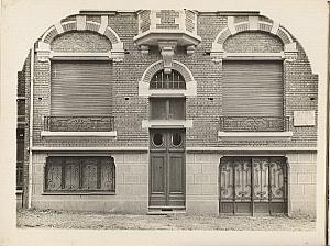 House facade Lille France Head Abstract old Photo 1930