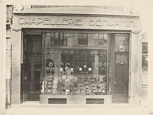 Hat Shop Chapelier Lille France old Jacquart Photo 1930