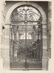 House Gate Photographer Reflection France Photo 1930