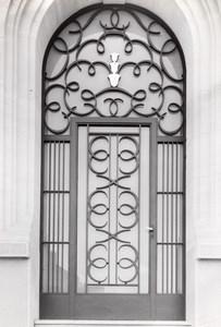 Wrought Iron Gate France Art Deco Jacquart Photo 1930'