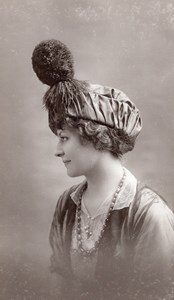Woman Parisian Hat Fashion France old Talbot Photo 1910
