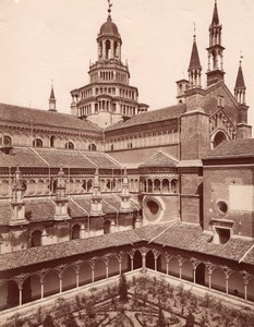 Certosa di Pavia Fianco Chiesa Italy old Photo 1880'