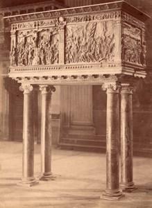 Firenze Pulpito della Passione Donatello San Lorenzo Basilica Italy Photo 1880