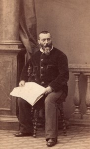 French Writer Alphonse Karr old Disderi CDV Photo 1860'