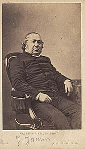 French Writer Jules Janin old Mayer CDV Photo 1860'
