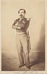 French General Lamoriciere old CDV Photo 1860'