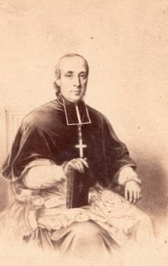 Bishop Jignoux France Religion old Furne CDV Photo 1860