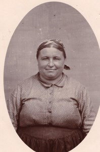Smiling Chubby Woman France old Photo 1900'