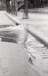 Street Waterfall Sewer Paris Unusual Snapshot 1946