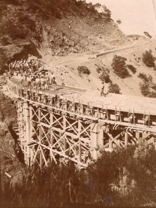 Bridge Builders Oued Mohandon Africa old Photo 1907
