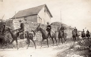 Champigny Military French Horse Officers Photo 1910