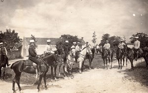 Champigny Campaign Military French Horse old Photo 1910