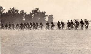Saumur Military French Cycling real Photo postcard 1910