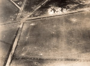 Aisne Chauffour Trench Military aerial Photo WWI 1918