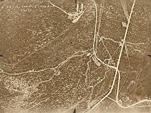Ferme Bellevue Trench Military aerial Photo WWI 1916