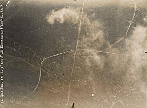 Verdun Bois Plume Trench Military aerial Photo WWI 1916