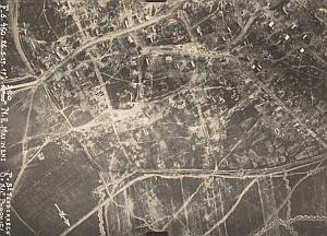 Romania Maxineni Trench Military aerial Photo WWI 1917