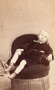 Boy Paris Second Empire Fashion old Bisson CDV 1860'