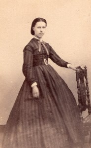 Woman Paris Second Empire Fashion old CDV 1860'