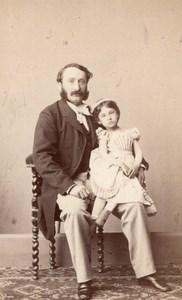 Father Paris Second Empire Fashion old Numa CDV 1860'