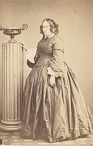 Woman Paris Second Empire Fashion old Jamin CDV 1860'