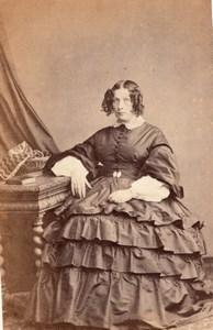 Woman Paris Second Empire Fashion old Prevot CDV 1860'