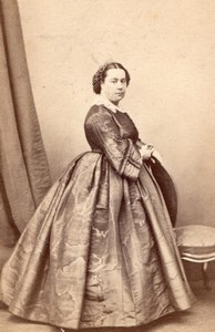 Woman Paris Second Empire Fashion old Alophe CDV 1860'