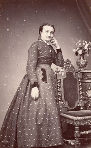Woman Toulouse Second Empire Fashion Trantoul CDV 1860'