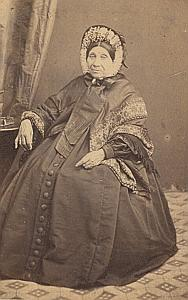 Woman Toulouse Second Empire Fashion Provost CDV 1860'