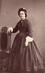 Woman Rouen Second Empire Fashion old Witz CDV 1860'